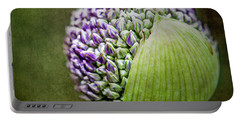 Portable Battery Charger featuring the photograph Budding Allium by Jessica Manelis