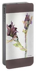 Budding Irises Portable Battery Charger