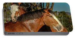 Portable Battery Charger featuring the photograph Budweiser Clydesdales  by Bill Gallagher