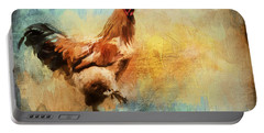 Buff Brahma Mrs. Darwin's Rooster  Portable Battery Charger