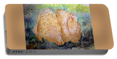 Buff Orpington Hens In The Garden Portable Battery Charger