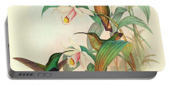 Buff Tailed Velvet Breast Portable Battery Charger by John Gould