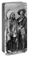 Buffalo Bill Cody And Chief Sitting Bull C. 1890 Portable Battery Charger by Daniel Hagerman
