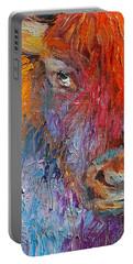 Buffalo Bison Wild Life Oil Painting Print Portable Battery Charger by Svetlana Novikova