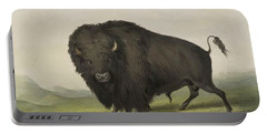Buffalo Bull Grazing 1845 Portable Battery Charger