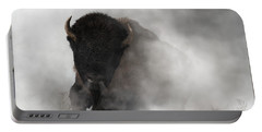 Buffalo Emerging From The Fog Portable Battery Charger