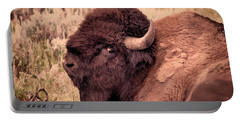Portable Battery Charger featuring the photograph Buffalo Eye On You by Janice Rae Pariza