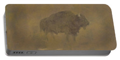 Buffalo In A Sandstorm Portable Battery Charger by Albert Bierstadt