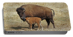 Buffalo With Newborn Calf Portable Battery Charger