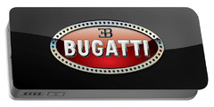Bugatti - 3 D Badge On Black Portable Battery Charger