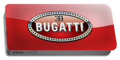 Bugatti - 3 D Badge On Red Portable Battery Charger