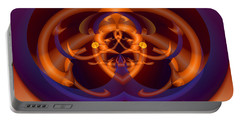 Portable Battery Charger featuring the digital art Bugged by Lynda Lehmann