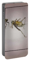 Portable Battery Charger featuring the painting Bugs And Blooms Album by Debbi Saccomanno Chan