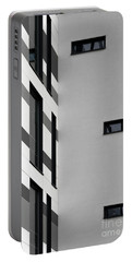 Portable Battery Charger featuring the photograph Building Block - Black And White by Wendy Wilton