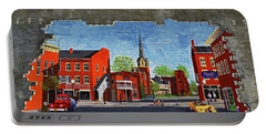 Building Mural - Cuba New York 001 Portable Battery Charger