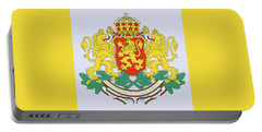 Portable Battery Charger featuring the drawing Bulgaria Coat Of Arms by Movie Poster Prints