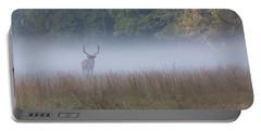 Bull Elk Disappearing In Fog - September 30 2016 Portable Battery Charger