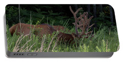 Bull Elk Grazing Portable Battery Charger