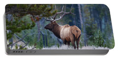 Bull Elk In Forest Portable Battery Charger