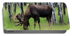 Bull Moose In The Woods  Portable Battery Charger