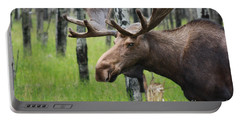 Bull Moose Portrait Portable Battery Charger