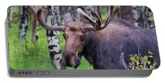 Bull Moose Up Close Portable Battery Charger by John Roberts