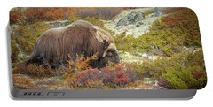 Bull Musk Ox Grazing Portable Battery Charger