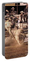 Portable Battery Charger featuring the photograph Bull Riding 1 by Natalie Ortiz