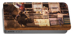 Portable Battery Charger featuring the photograph Bull Riding 2 by Natalie Ortiz