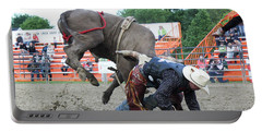 Bull Riding Action Portable Battery Charger