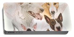 Bull Terrier Medley Portable Battery Charger