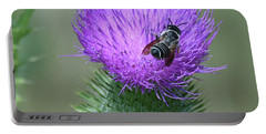 Bull Thistle And Leafcutter Bee Portable Battery Charger