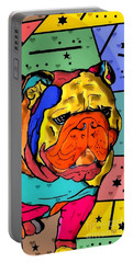 Bulldog Popart By Nico Bielow Portable Battery Charger by Nico Bielow
