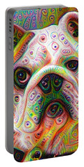 Bulldog Surreal Deep Dream Image Portable Battery Charger