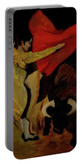 Bullfighter By Mary Krupa Portable Battery Charger by Bernadette Krupa