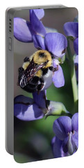 Bumble Bee, Blue Indigo Portable Battery Charger