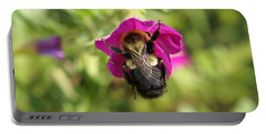 Portable Battery Charger featuring the photograph Bumble Bee by Heidi Poulin