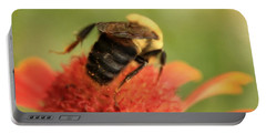 Portable Battery Charger featuring the photograph Bumblebee by Chris Berry