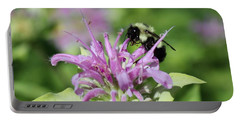 Bumblebee On Bee Balm Portable Battery Charger