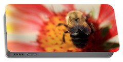 Bumblebee On Blanket Flower Portable Battery Charger