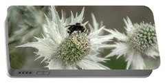 Bumblebee On Thistle Flower Portable Battery Charger