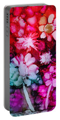 Bunch Of Flowers Portable Battery Charger