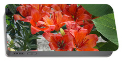 Bunch Of Lilies Portable Battery Charger by Catherine Gagne