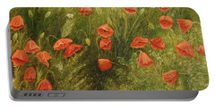 Bunch Of Poppies Portable Battery Charger