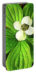 Bunchberry Blossom Portable Battery Charger