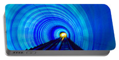 Portable Battery Charger featuring the photograph Bund Tunnel Lights by Angela DeFrias