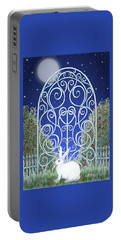 Bunny, Gate And Moon Portable Battery Charger