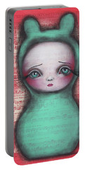 Bunny Girl Portable Battery Charger by Abril Andrade Griffith