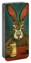 Bunny Hops Portable Battery Charger by Leah Saulnier The Painting Maniac