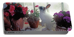 Bunny In Window Portable Battery Charger